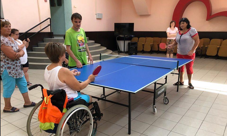 В Молодежном центре состоялся турнир по настольному теннису среди людей с ограниченными возможностями здоровья
