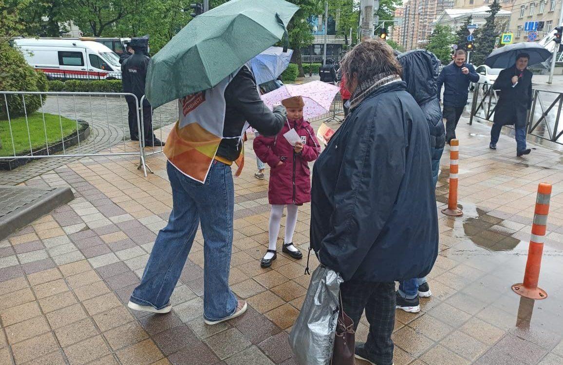 Волонтеры помогали на Городской площади